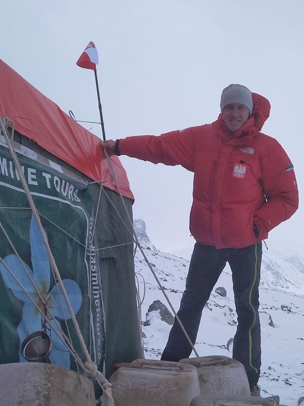Denis at Broaad Peak Base Camp PC: Denis via FB