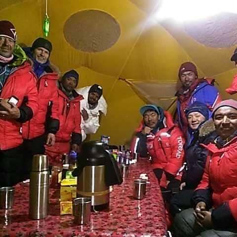 Jon Snorri and Team at K2 Base Camp PC: Jon via FB