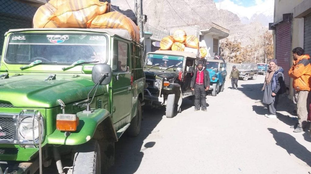 Supplies being oved to K2 BC from Skardu Photo: via SST FB